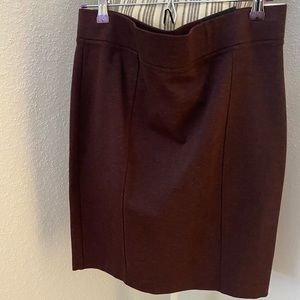 Dalia Burgundy Fabric Pencil Skirt | Sz 12